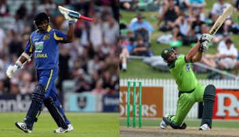 Sanath Jayasuriya and Shahid Afridi