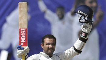 Sehwag opened after batting in middle order