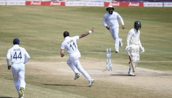 India's Mohammed Shami against South Africa