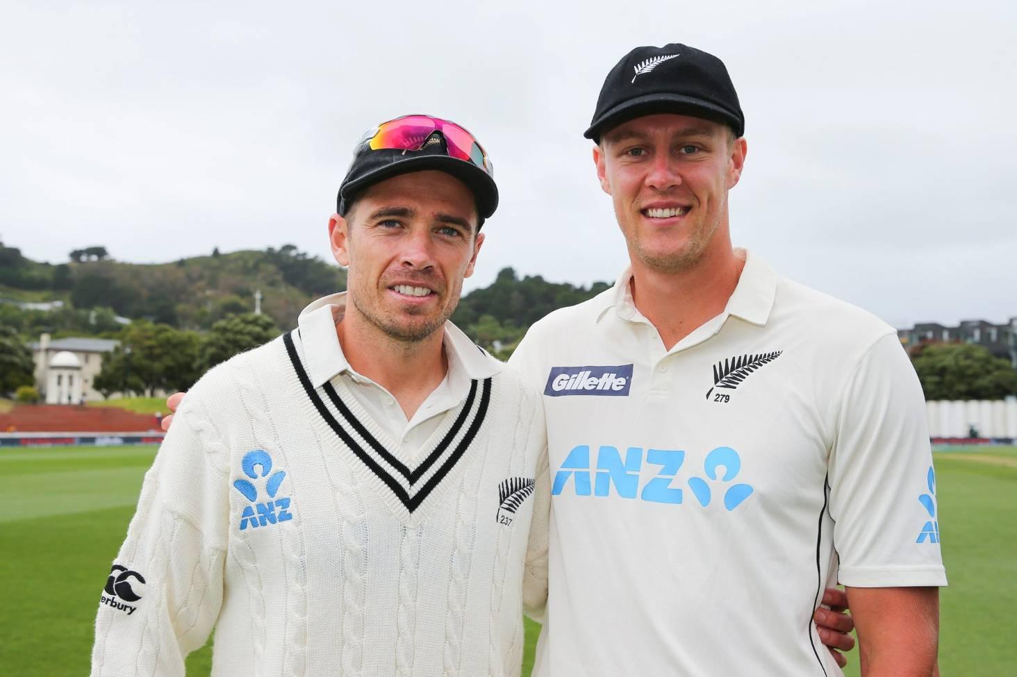 Tim Southee with Kyle Jamieson